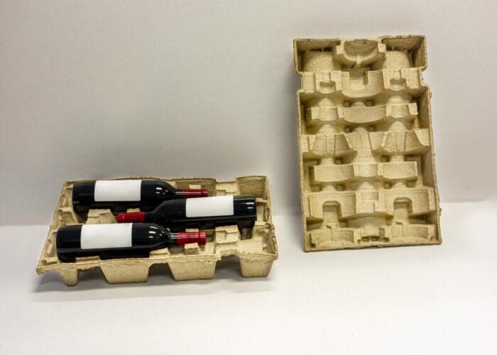 3-6-9 stackable wine bottle shipper