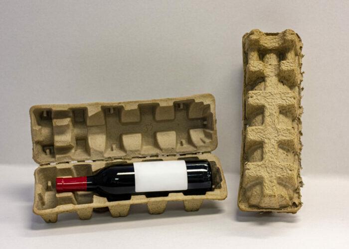 clam shell wine bottle shipper